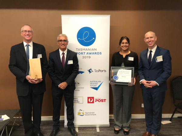 2019 Tasmanian Export Awards - LPI won Technology & Innovation Award
