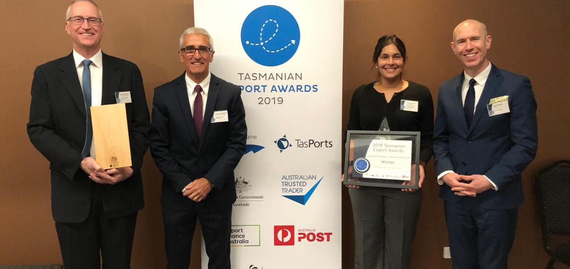 2019 Tasmanian Export Awards - LPI won Technology & Innovation Award